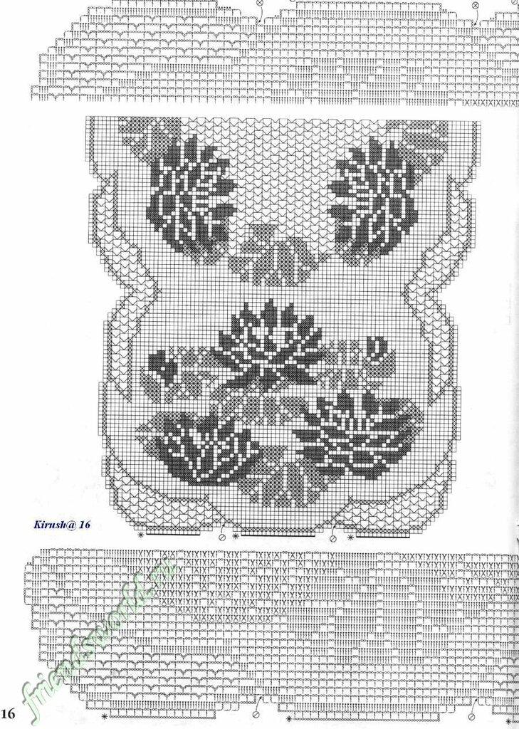 140Узоры для вязания крючком лилия