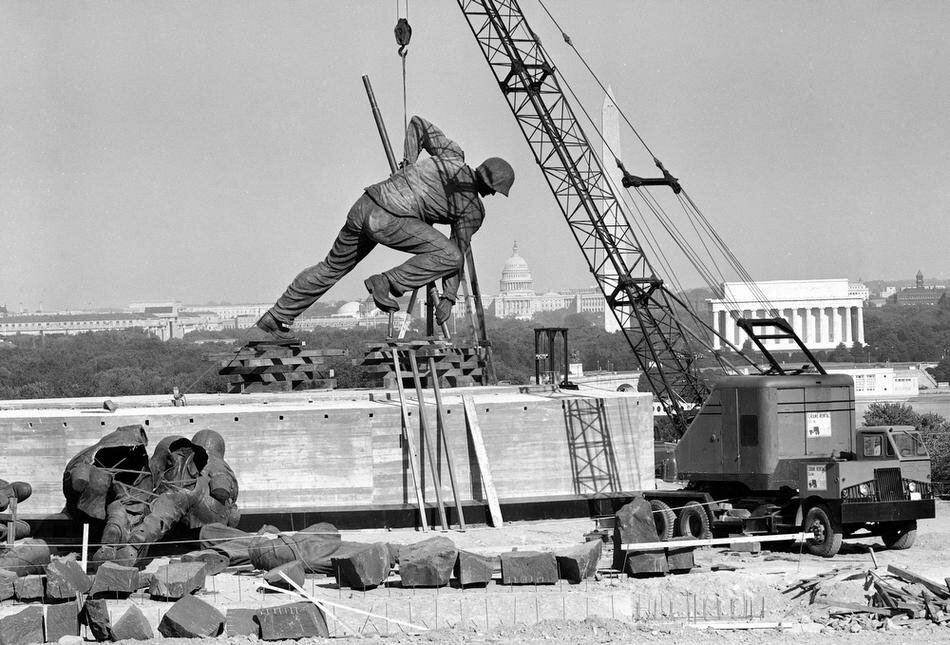 IWO JIMA MEMORIAL CONSTRUCTION