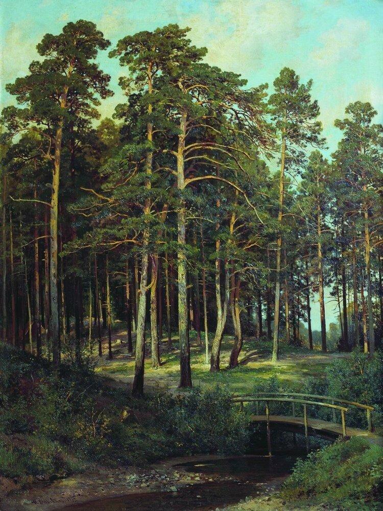 Мостик в лесу 1895 108х81.jpg