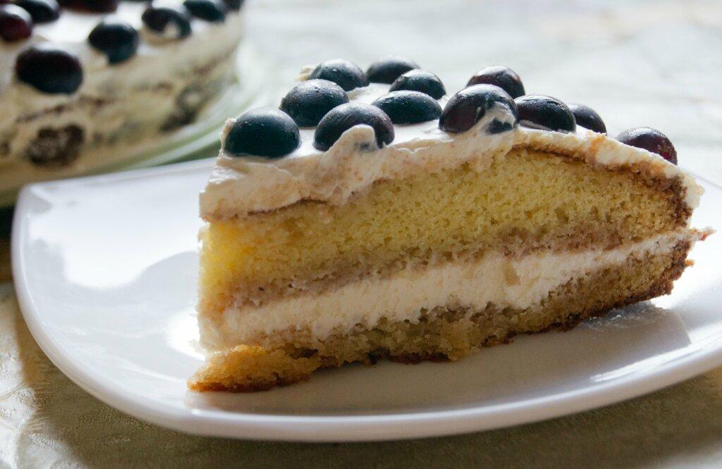 Бисквитный торт на сгущенном молоке