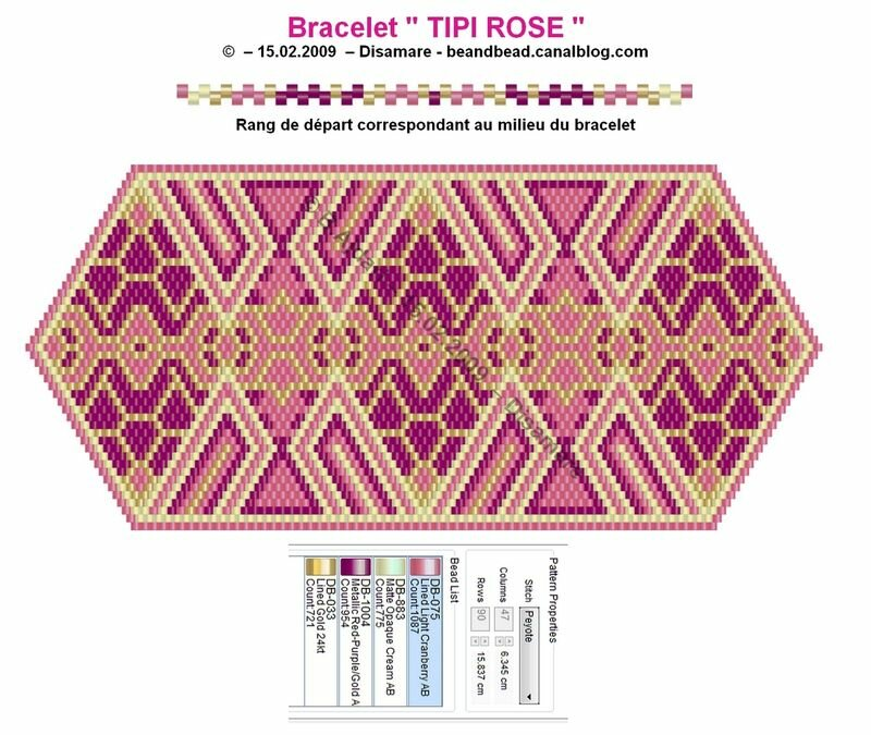 Еще две очаровательные схемки в технике мозаичного плетения. источник.