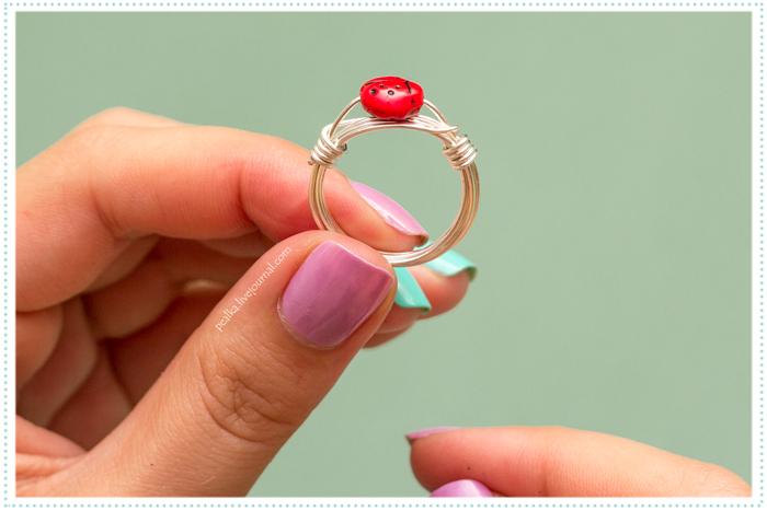 Как для куклы сделать кольцо из 258