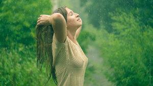 Летний ливень НЮ, портрет, ливень