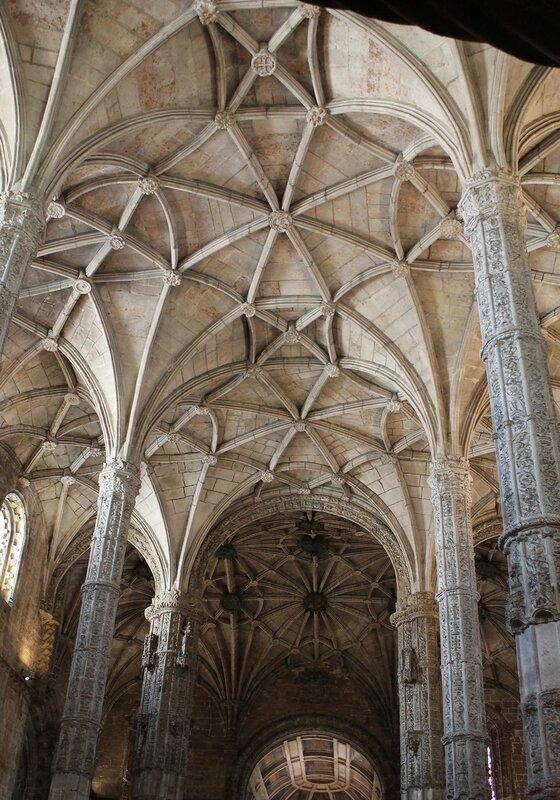 The Church of the Jerónimos monastery. Rib vaults
