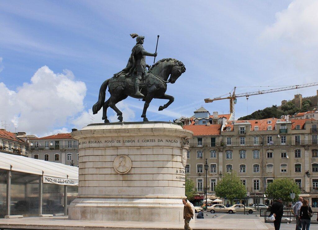 Lisbon. Monument to joão I (Monumento a D. João I)