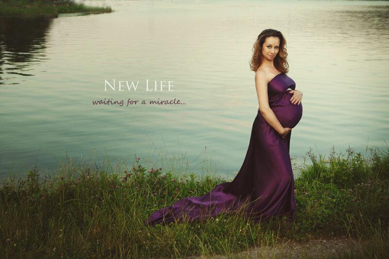 Фотосессия беременных у реки