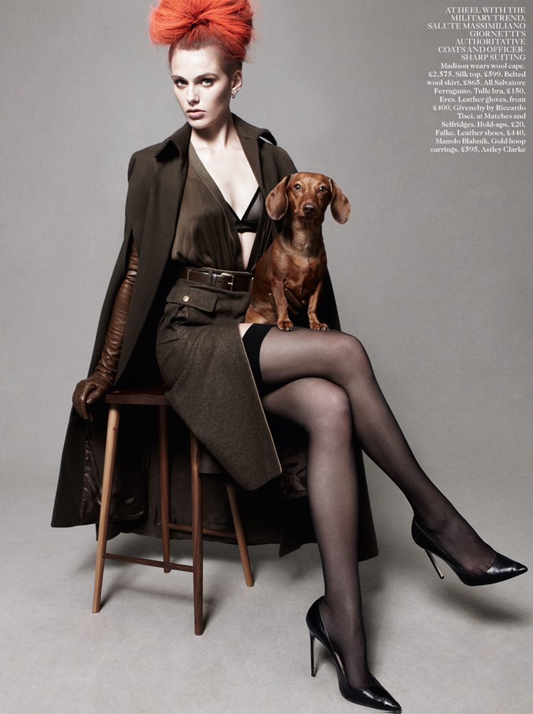 Best In Show - Madison Headrick / Мэдисон Хедрик, фотограф Daniel Jackson в журнале Vogue UK, август 2012