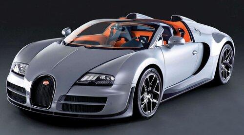 самый быстрый серийный автомобиль Bugatti Veyron 16.4 Grand Sport Vitesse