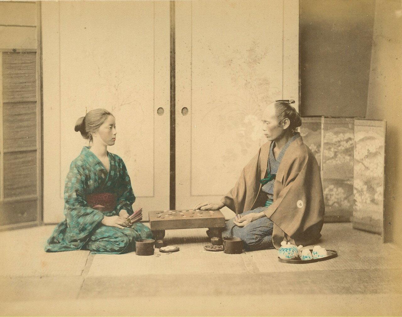 Игра в го. 1875