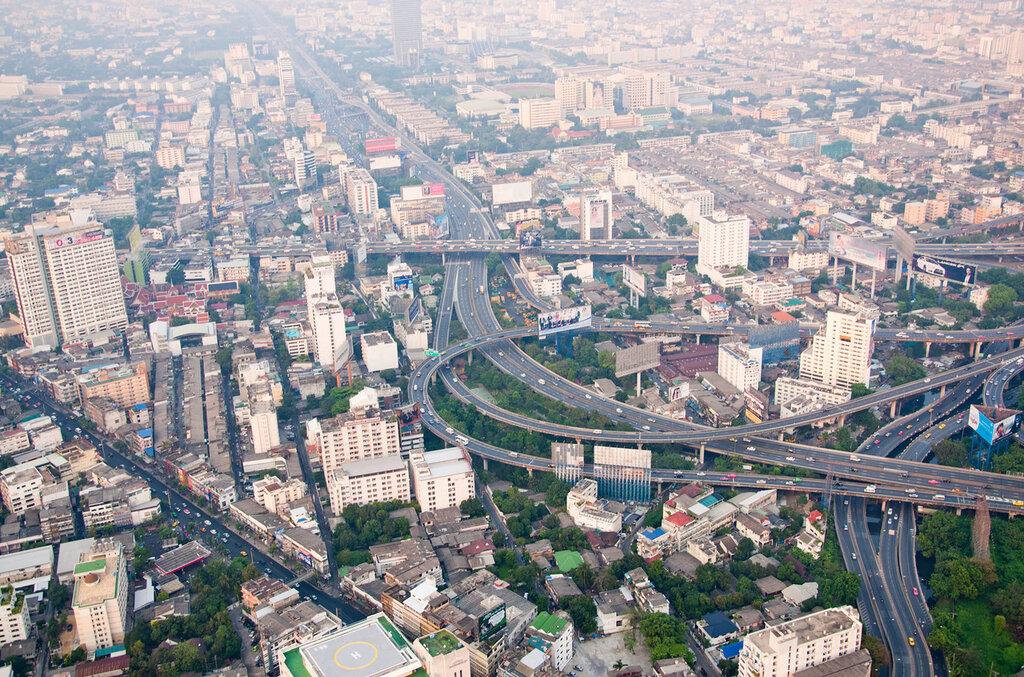 Тайланд, Бангкок, вид с высоты птичьего полета