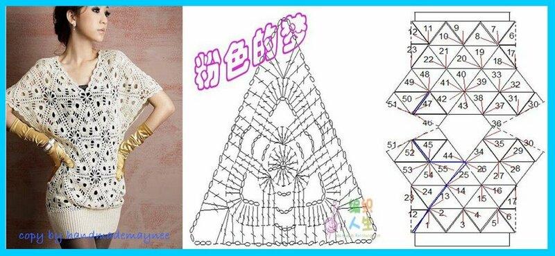 Красивая блуза из треугольных