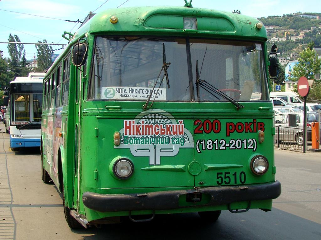 Старые троллейбусы в Ялте