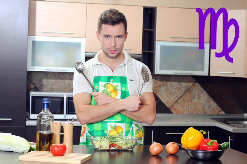 Гороскоп: Мужчина на кухне