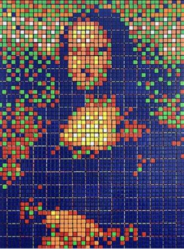 Мона Лиза из кубиков-рубиков