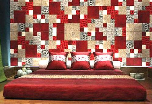 Декор стен в стиле пэчворк