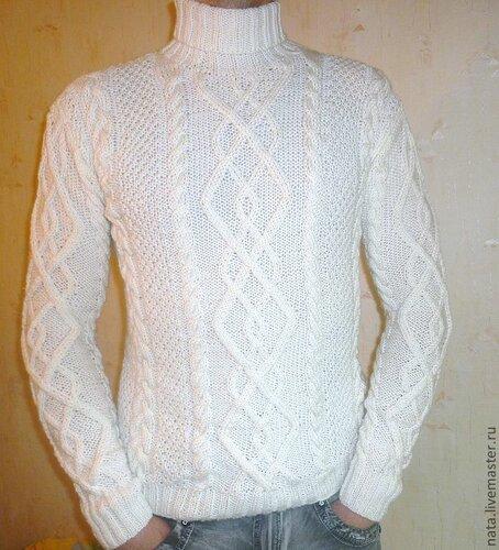 свитер с аранами мужской