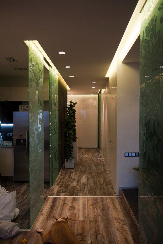 Вечернее освещение коридора
