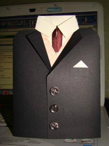 Открытка пиджак своими руками пошаговая инструкция