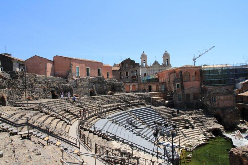 Сицилия, Катания, Римский театр