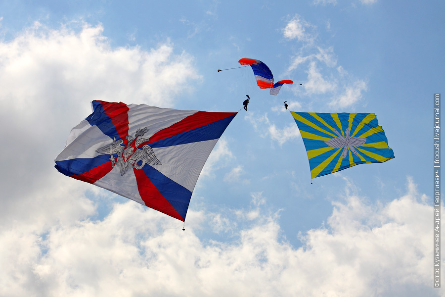 Флаг Министерства обороны РФ 18х27 метров. 100 лет ВВС