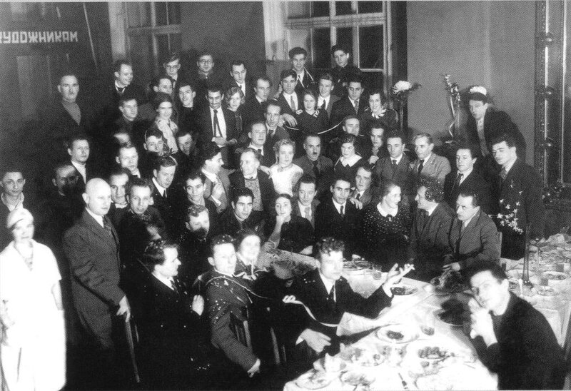 New Year's Eve at the Russian Academy of Arts, Late 1930s.