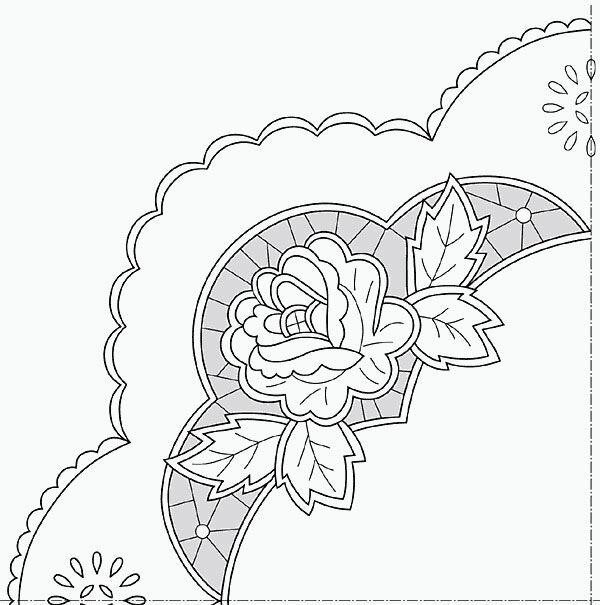 Часть...  Гильоширование.  Круглые салфетки.  Фото и схемы.  Рисунки для вышивки ришелье.  Шторы на окно.