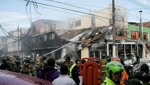 Катастрофа в Колумбии: самолёт рухнул прямо на дом