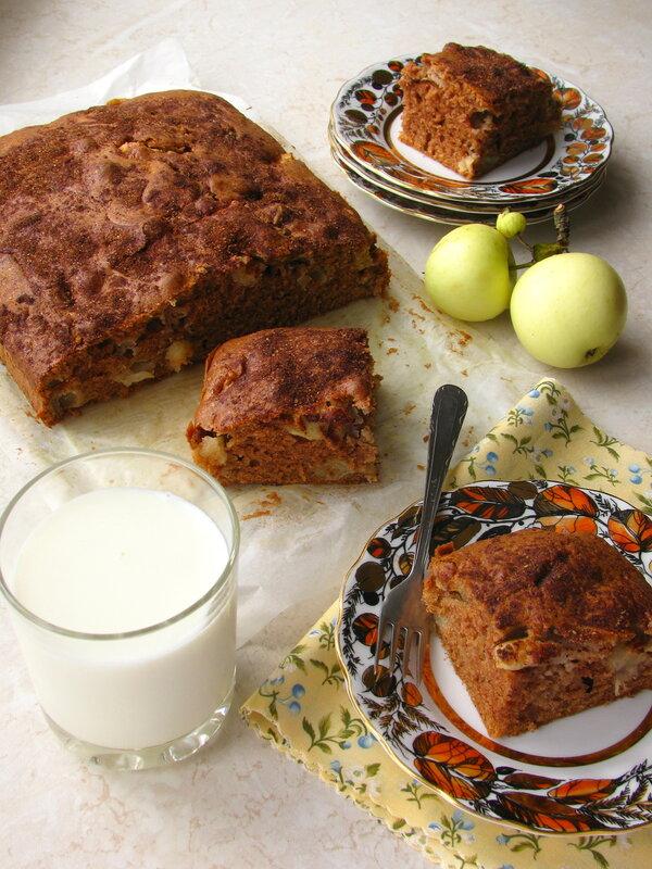 Яблочный пирог с пряной корочкой