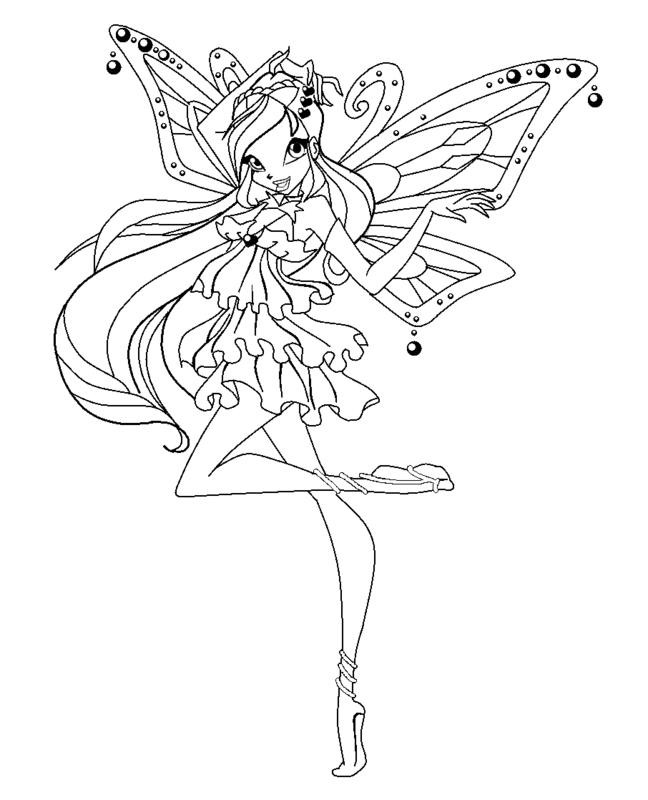 Винкс раскраска энчантикс флора