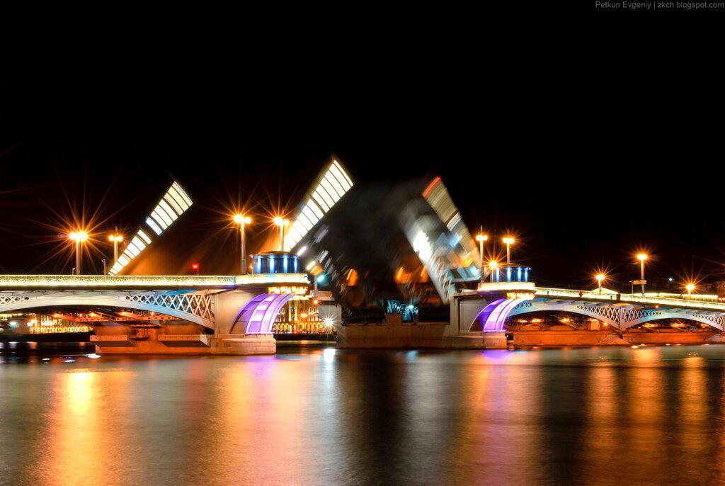 Автор: Петкун Евгений, блог Евгения Владимировича, фото, фотография: Ночной Благовещенский мост