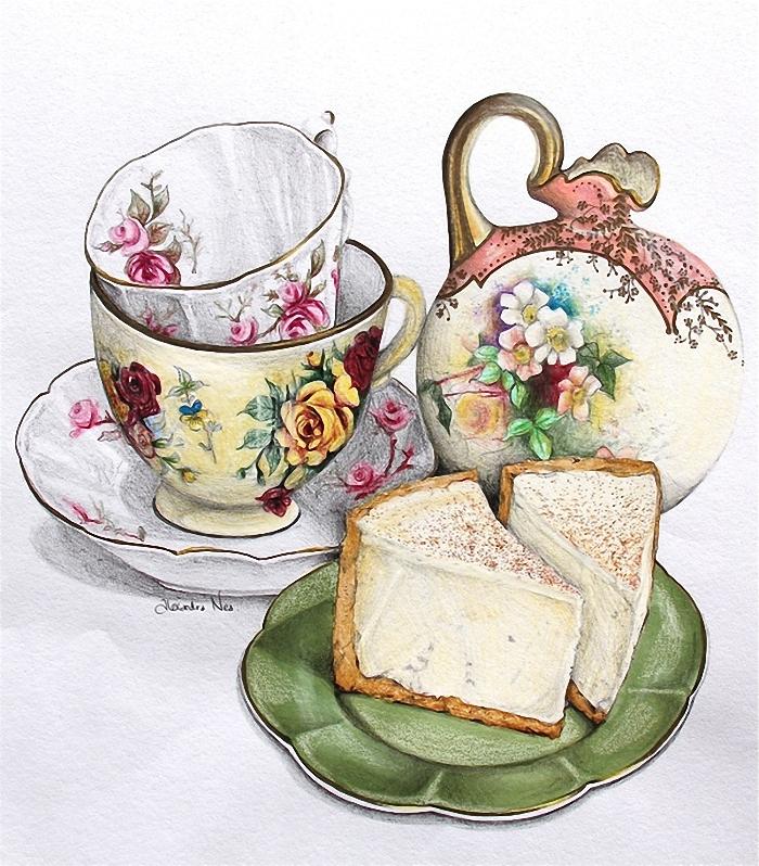 картинки для декупажа чашка с чаем свой