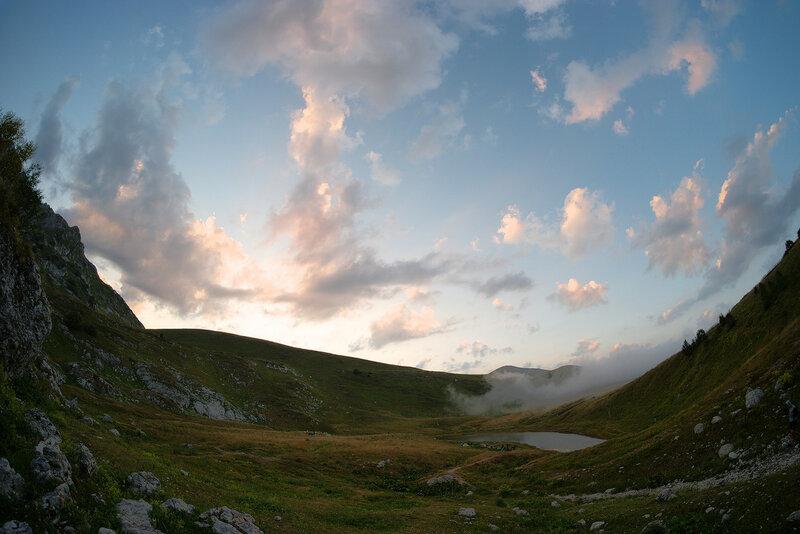 Закат на оз. Псенодах
