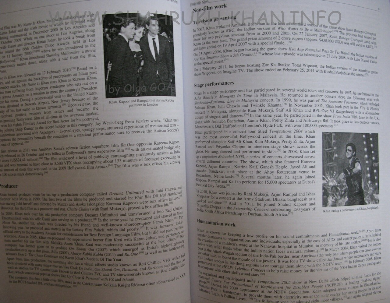 Shahrukh Khan - Book 2012