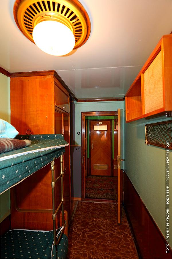 двухместная двухъярусная каюта №51 на средней палубе. теплоход Плеханов Г.В.