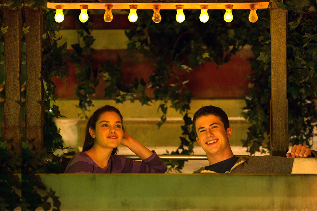 "Odeya Rush, left, and Dylan Minnette in Columbia Pictures' ""Goosebumps,"" staring Jack Black. - Goosebumps"