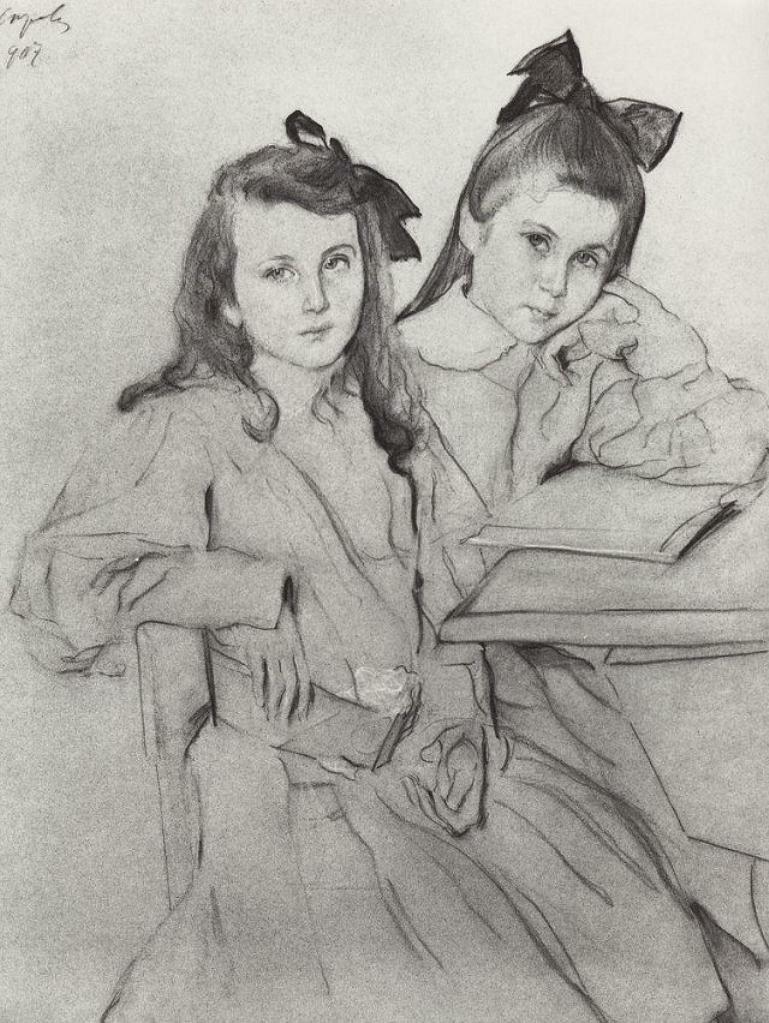 Девочки Н.А. и Т.А. Касьяновы, 1907