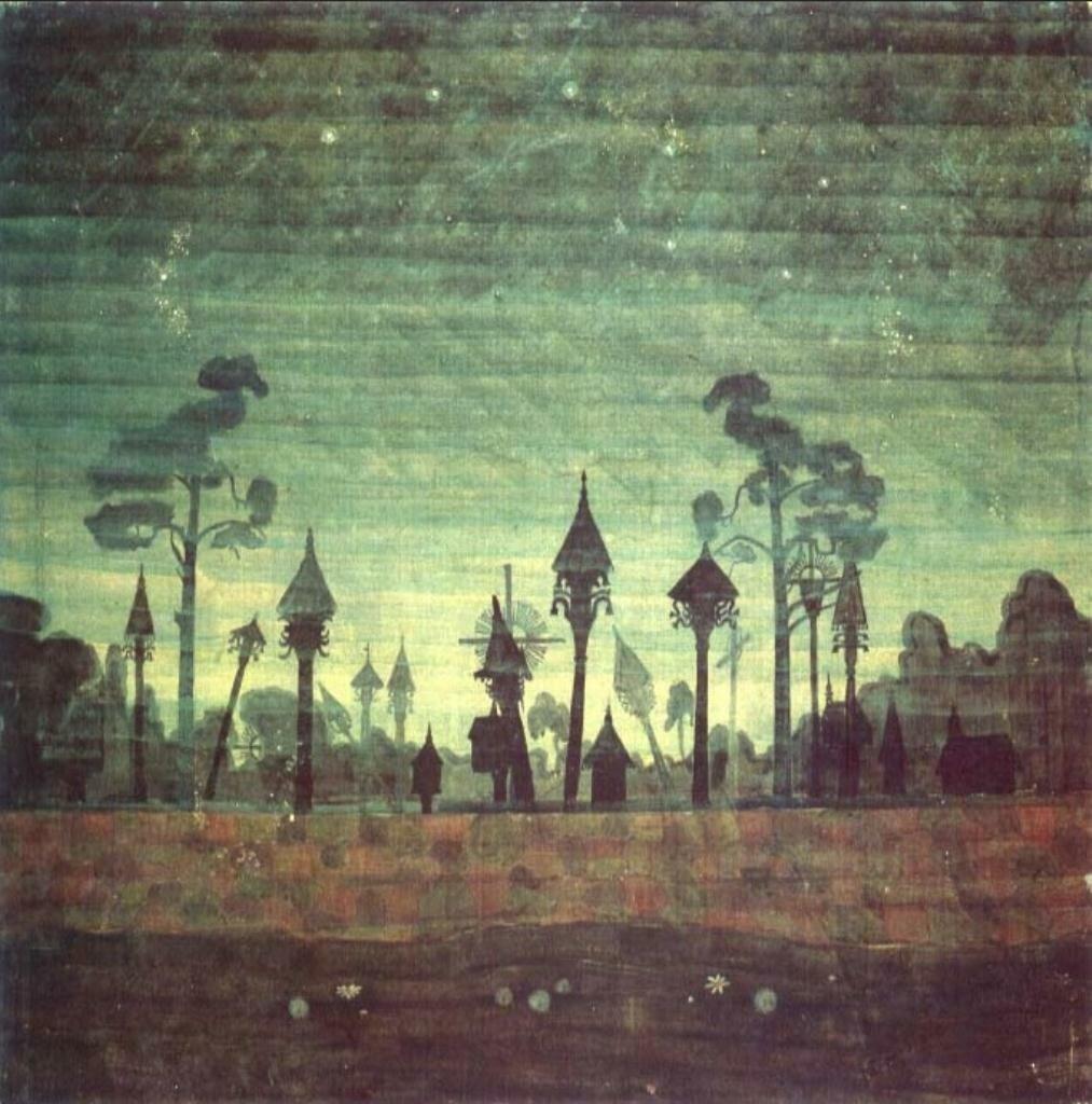 Сельское кладбище, 1909, Чюрлёнис (1875-1911)