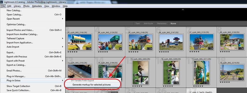 Экспорт фотографий из Lightroom в Яндекс.Фотки