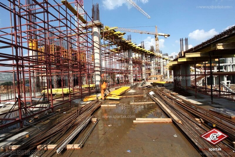Строительство стадиона «Спартак» август 2012 (Фото)
