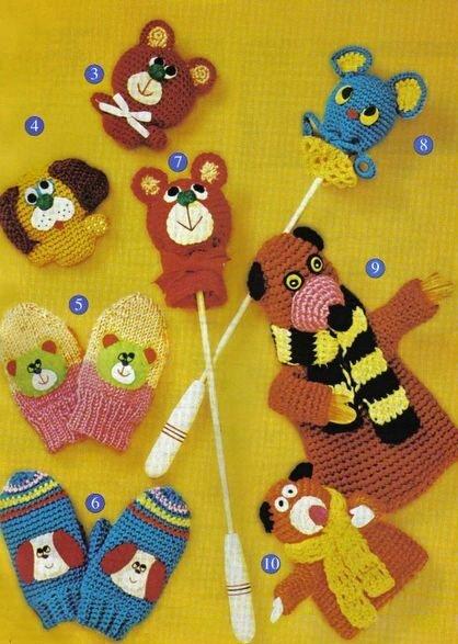 Варежки и игрушки ... вяжем