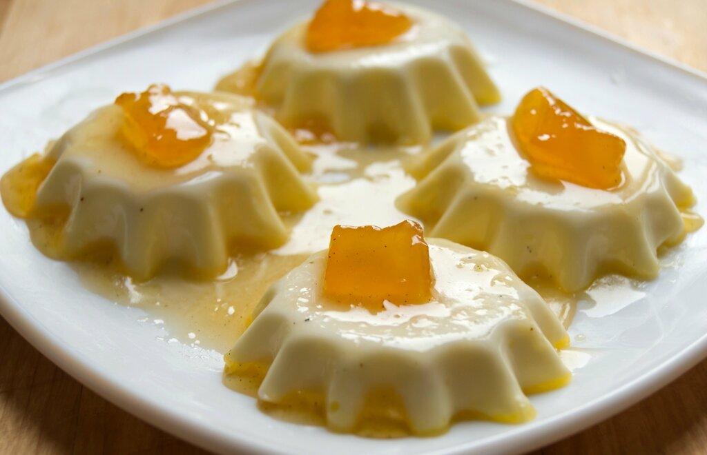 Ванильная панакотта. Итальянская кухня