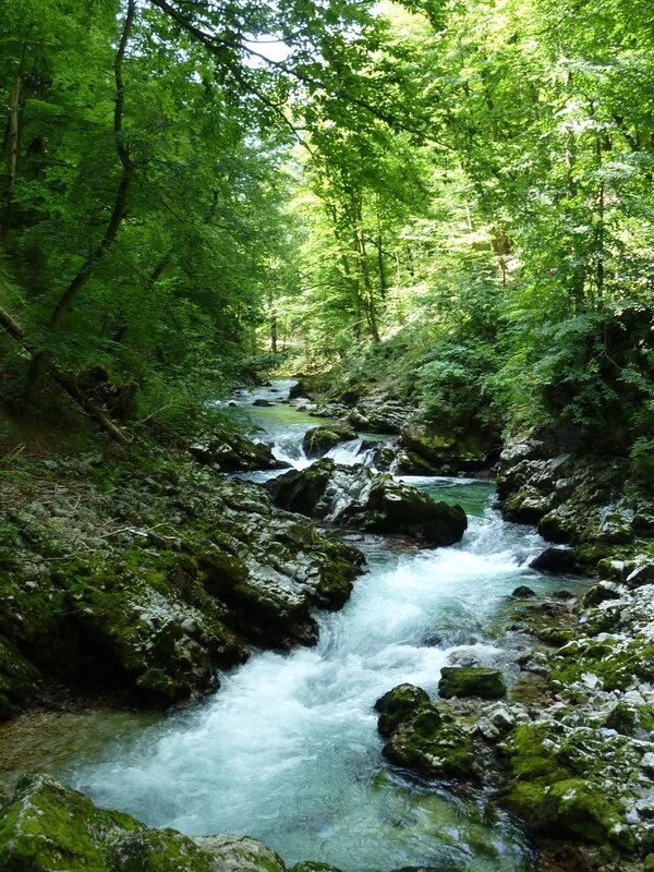 Река Радовна в Винтгарском ущелье
