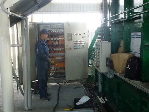 Мусоросортировочный завод в Копейске -  пульт управления