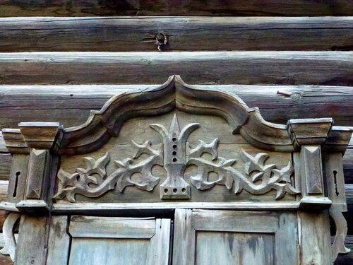 Резьба на деревянных наличниках  старого Томска
