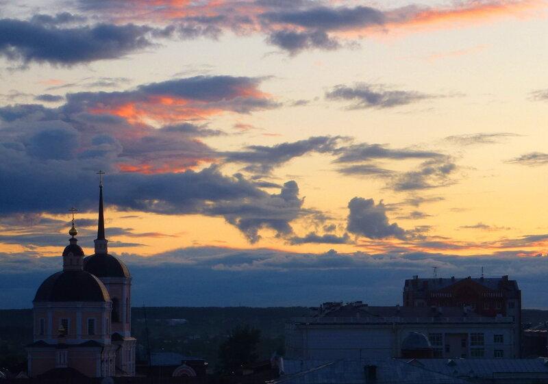 Фантастические краски заката над Томском