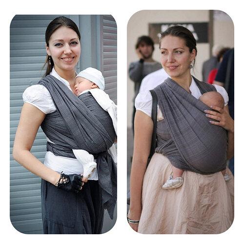 Завязать слинг для новорожденных