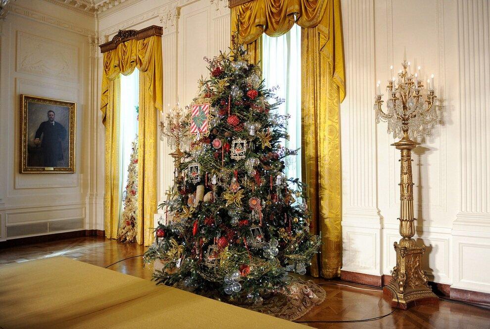 Рождество, Новый год, Белый дом 2012год