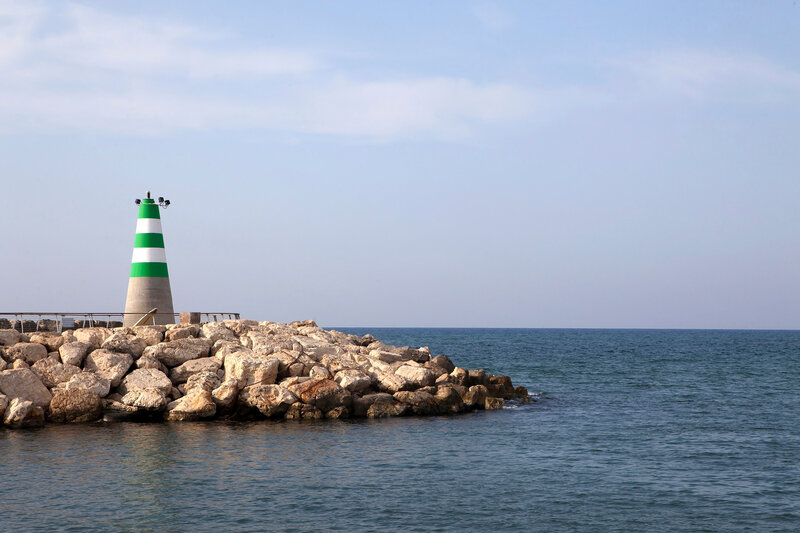 Distant view of lighthouse
