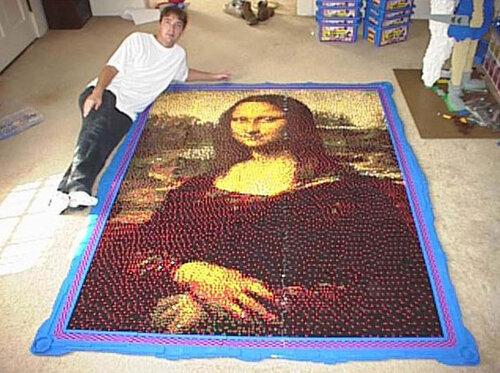Мона Лиза из тридцати тысяч деталей детского конструктора