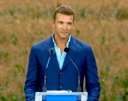 Андрей Шевченко на съезде партии Королевской